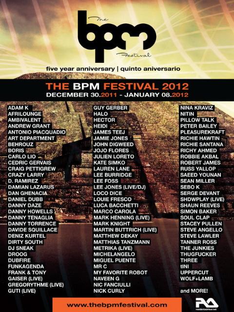 Lineup de la quinta edición del festival BPM.
