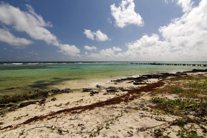 Playa Mahahual Fotografía de descubriendoelmundo; Licencia Creative Commons.