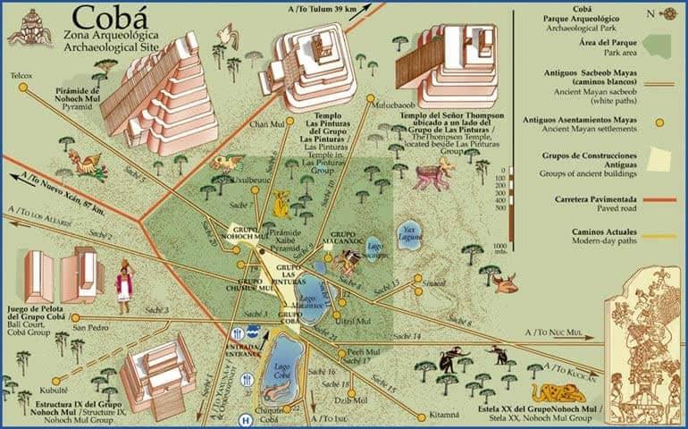 科巴考古遗址的地图