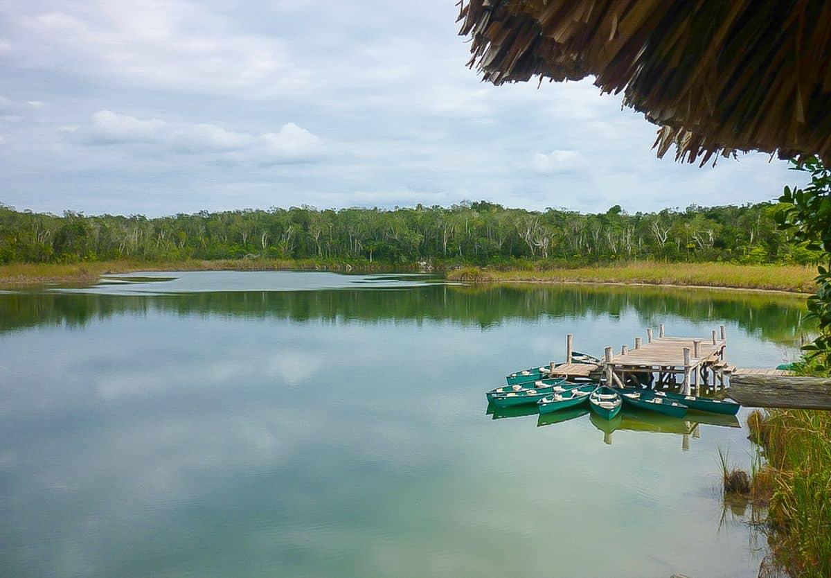 Pac Chen生态村中的湖水。