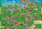 Mapa de Xcaret. Atracciones, rutas y actividades.