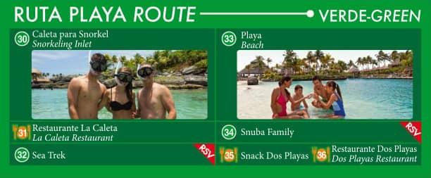 Ruta Playa. Ruta verde.