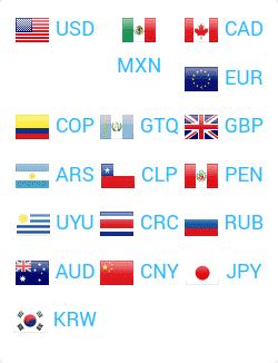 Monedas aceptadas para hacer el pago en Xcaret.