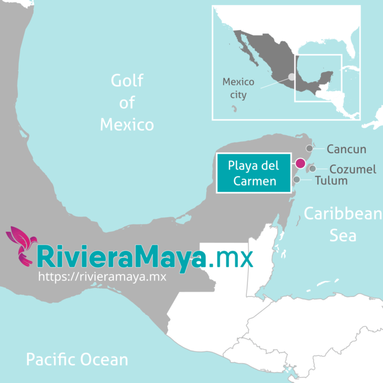Playa del Carmen location map.