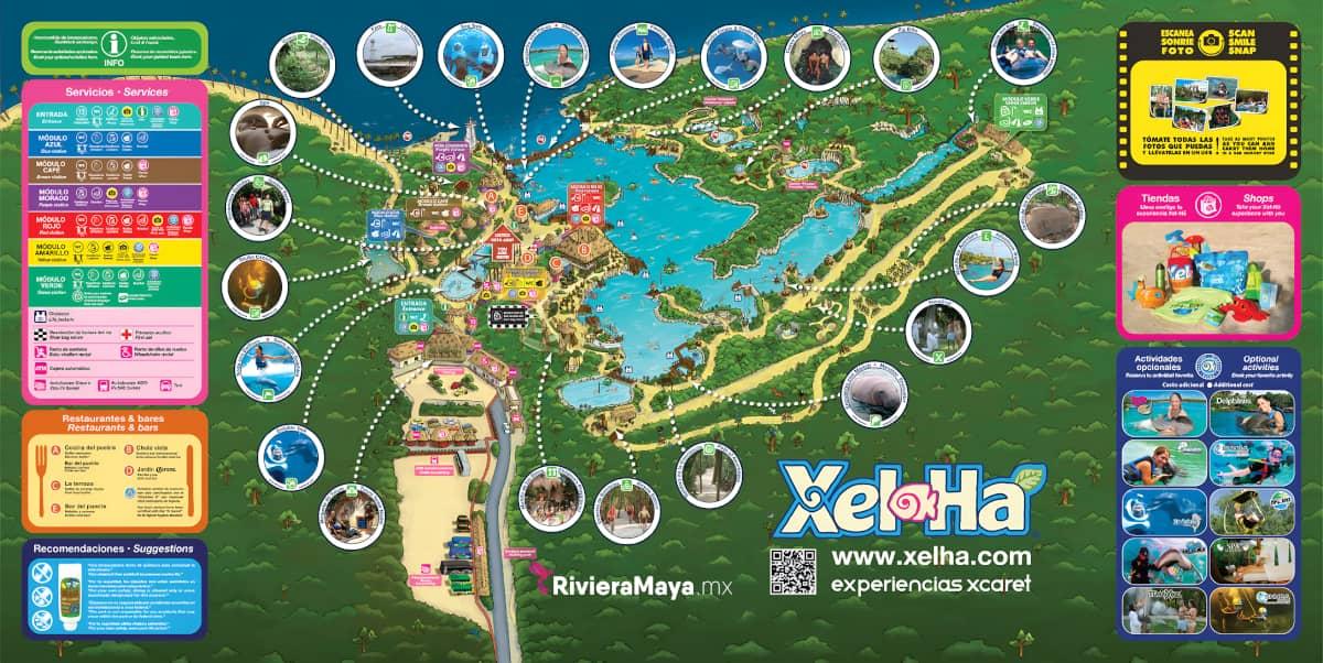 Mapa de Xel-ha. Xel-ha map.