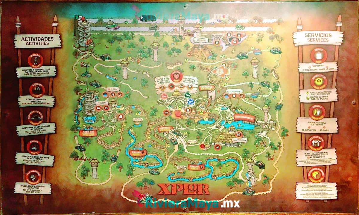 Mapa de Xplor. Xplor Map.